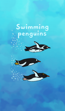Swimming penguins 画像(1)