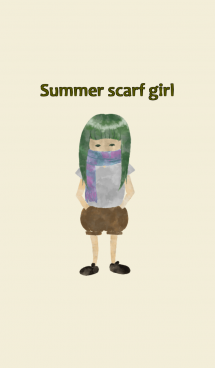 summer scarf girl 画像(1)