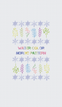 WATER COLOR NORDIC PATTERN 画像(1)