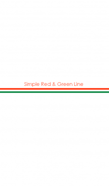 Simple Red & Green Line 画像(1)