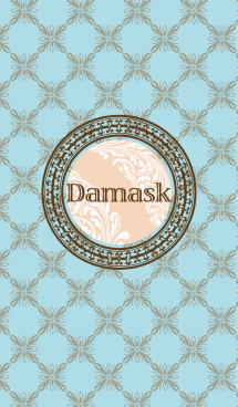 Damask - Brown Blue 画像(1)