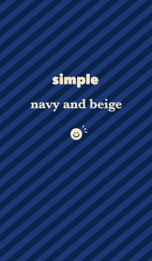 simple navy and beige 画像(1)