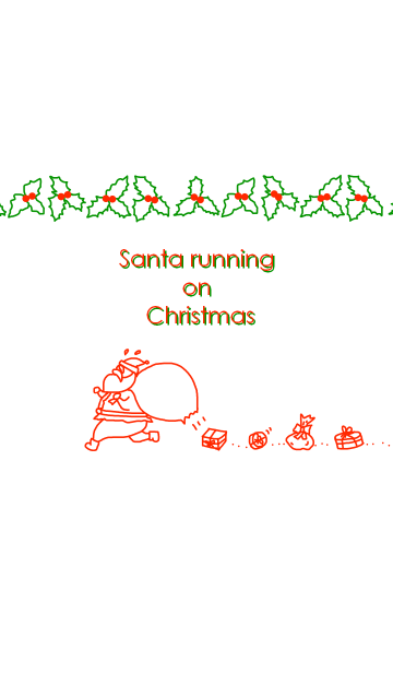Santa running on Christmasの画像(表紙)