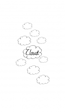 simple and stylish cloud 画像(1)