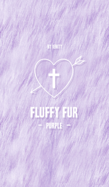 fluffy fur theme - Purple - 画像(1)