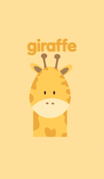 Simple giraffe theme 画像(1)
