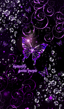 butterfly gothic purple Theme 画像(1)