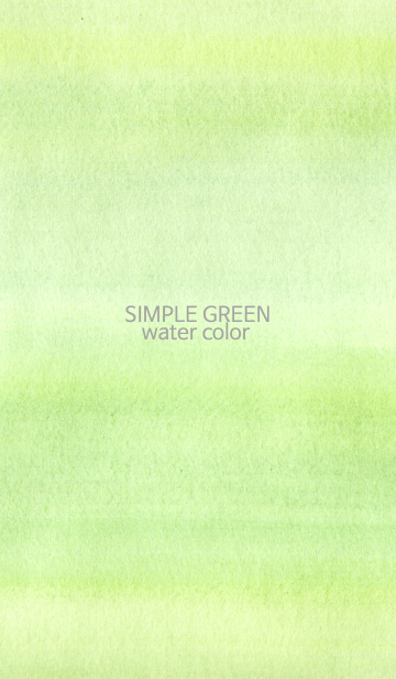 simple water green colorの画像(表紙)