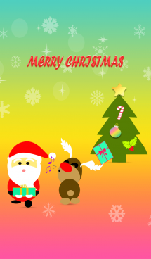 Christmas day with colorful background 画像(1)