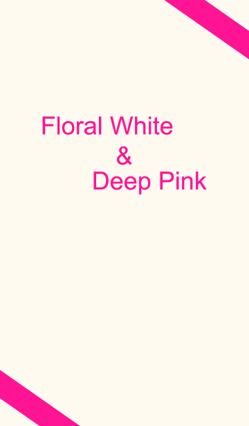 Floral White & Deep Pinkの画像(表紙)