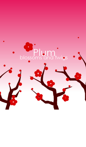 Plum blossoms and twigs ~梅の花と枝~の画像(表紙)