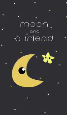 moon and a friend 画像(1)
