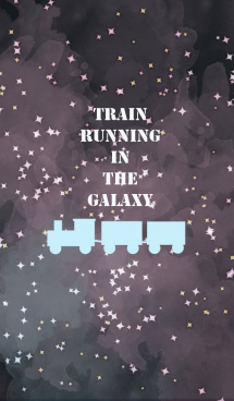 Train running in the galaxy 画像(1)