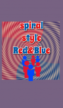 spiral style Red&Blue 画像(1)