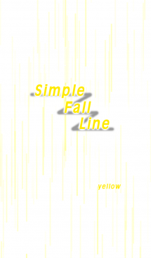 Simple Fall Line (yellow)