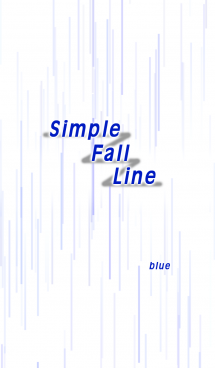 Simple Fall Line (blue)