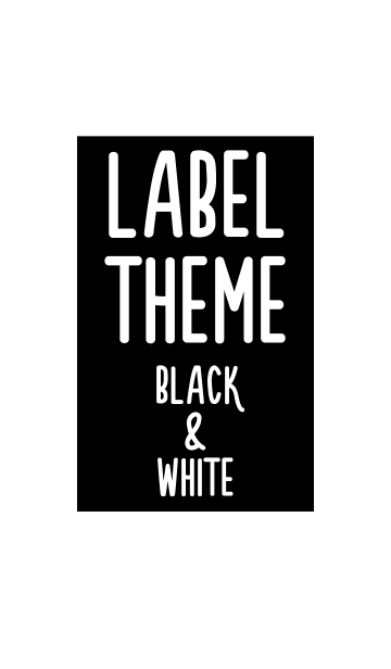 LABEL THEME BLACK&WHITEの画像(表紙)