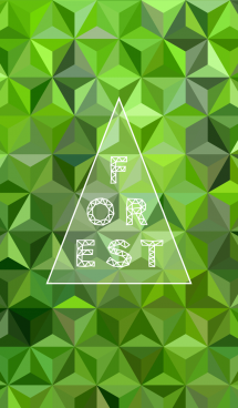 triangle forest-green- 画像(1)