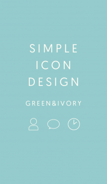 SIMPLE ICON DESIGN GREEN & IVORY