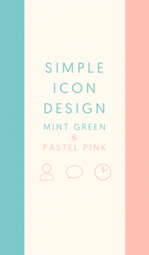 SIMPLE ICON DESIGN GREEN&PINK