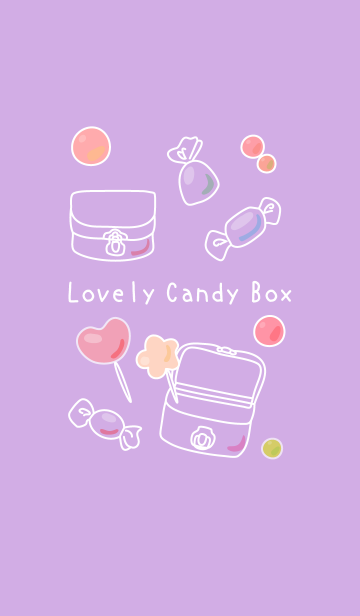 Lovely Candy Box (紫色)の画像(表紙)