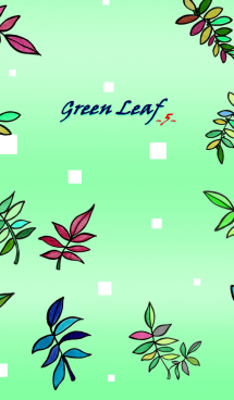 Green leaf-5- Pure Green 画像(1)