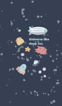 Universe like deep sea 画像(1)
