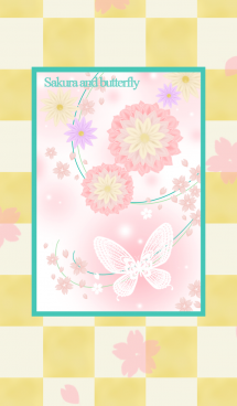 Sakura and butterfly.. 画像(1)