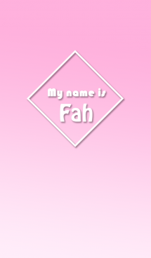 Name Fah Ver. Pink Style (English) 画像(1)