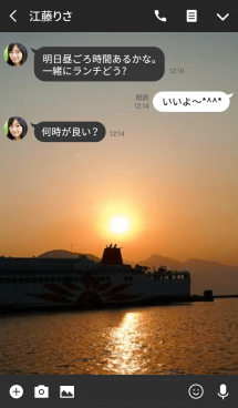 Ship in the sunset. 画像(3)