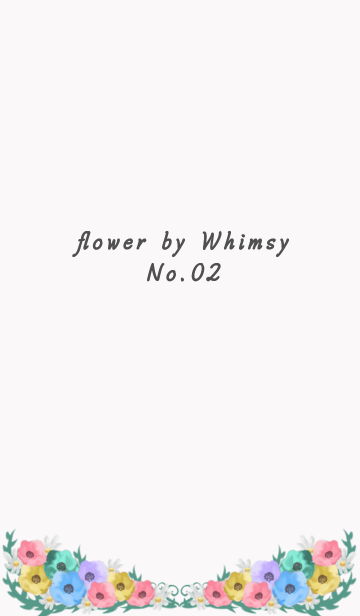 flower by Whimsy 02 大人の花柄の画像(表紙)
