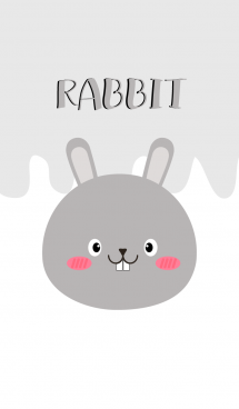 Simple Pretty Gray Rabbit Theme (jp) 画像(1)